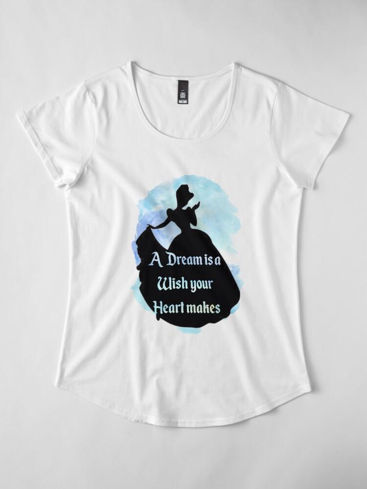 Alternative Ansicht von Ein Traum ist ein Wunsch Premium Rundhals-Shirt