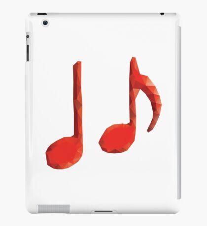 Polygonale Musiknoten iPad-Hülle & Klebefolie