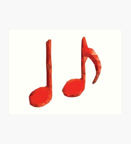 Polygonale Musiknoten Kunstdruck