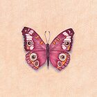 burgundy butterfly with coffee wings by EllenLambrichts