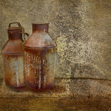rusty cow milk pails by AJ-artography