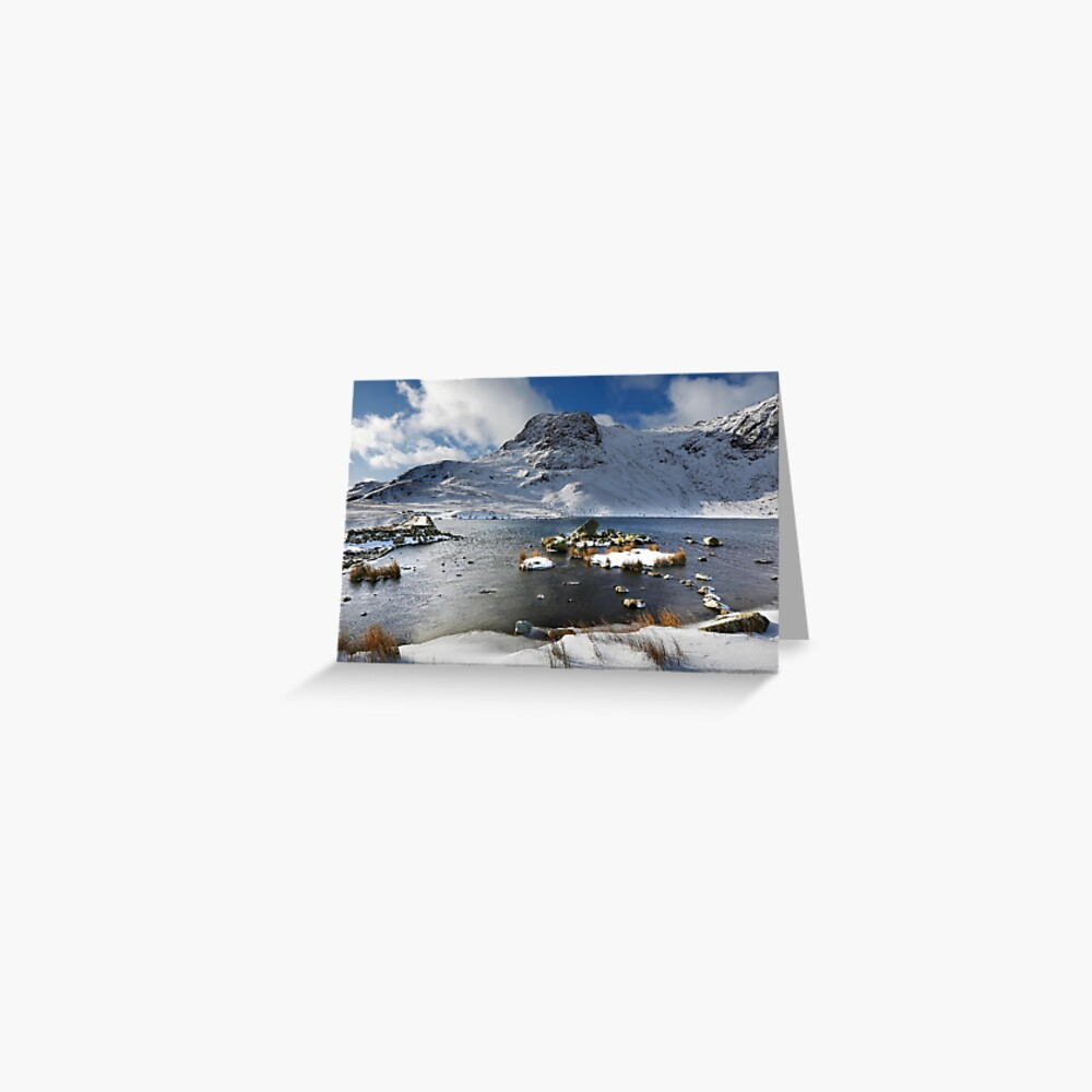 Harrison Stickle and Stickle Tarn in the English Lake District Greeting Card