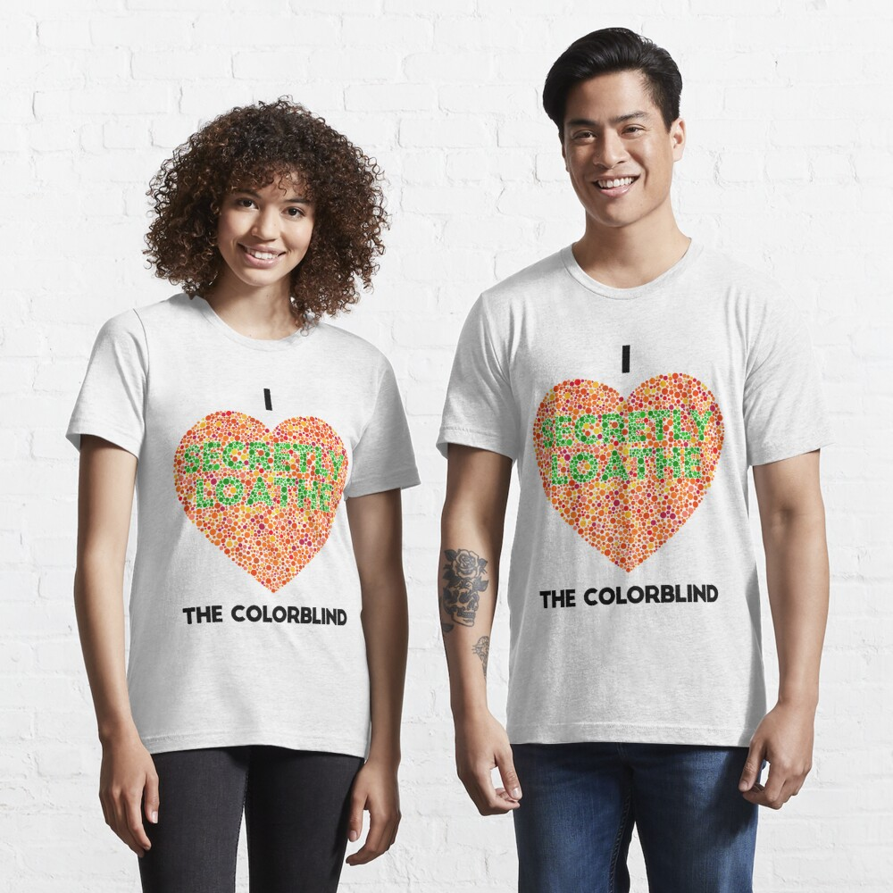 Ishihara Colorblind Test: I Heart the Colorblind (US spelling) Essential T-Shirt