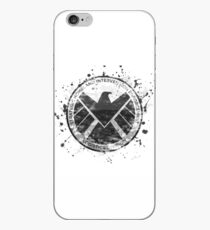 S.H.I.E.L.D Emblem (in gray with white background) iPhone Case