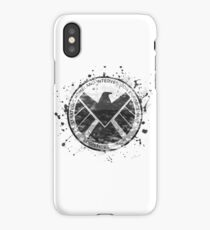 S.H.I.E.L.D Emblem (in gray with white background) iPhone Case/Skin