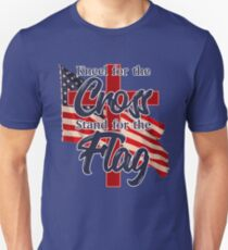 Patriotic Kneel for the Cross Stand for the Flag Design T-Shirt