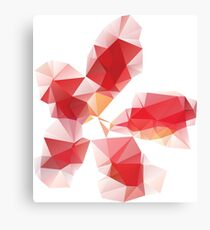 Red Polygonal Flower Canvas Print