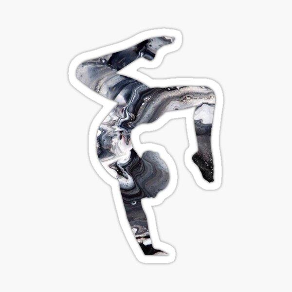 Marble Stag Handstand Sticker