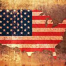 USA Flag Map by Michael Tompsett