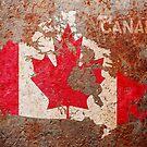 Canada Flag map by Michael Tompsett