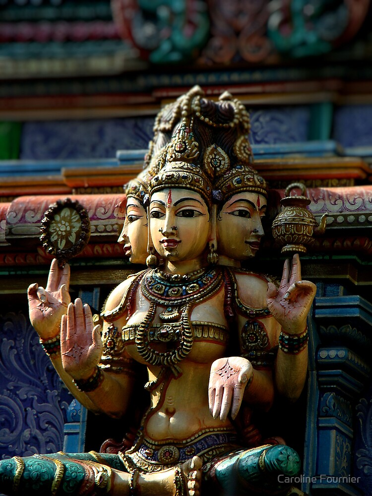 Hindu Deity by Caroline Fournier
