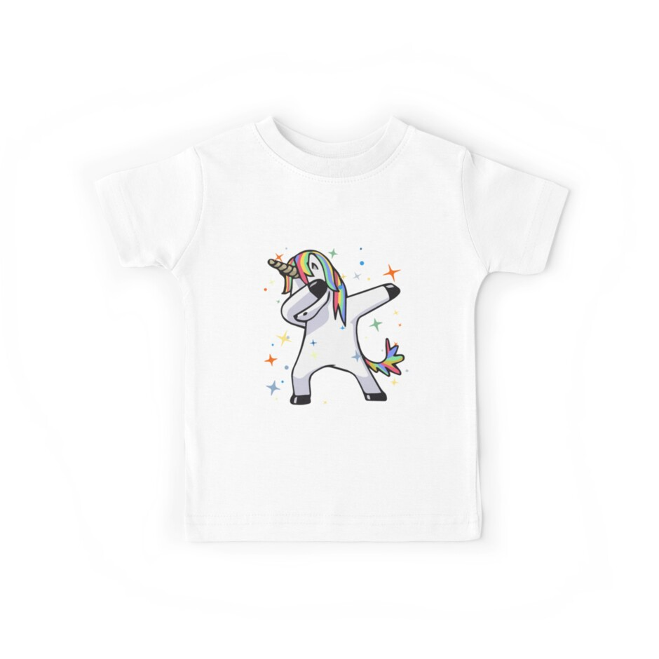 «Dabbing Unicorn - Dance, Rainbows, Magic, Stars, Fluffy Fun!» de AllGoodStuff