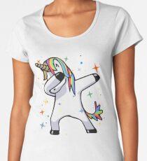 Dabbing Unicorn - Dance, Rainbows, Magic, Stars, Fluffy Fun! Women's Premium T-Shirt
