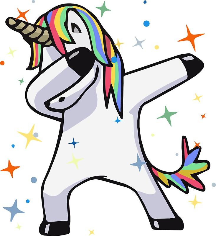 Quot Dabbing Unicorn Dance Rainbows Magic Stars Fluffy
