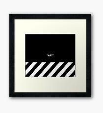 OFF-WHITE Inspired Simple Wording Illustration  Framed Print