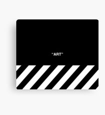 OFF-WHITE Inspired Simple Wording Illustration  Canvas Print