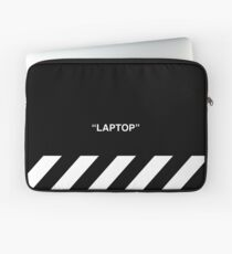OFF-WHITE Inspired Simple Wording Illustration  Laptop Sleeve