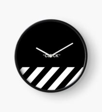 OFF-WHITE Inspired Simple Wording Illustration  Clock