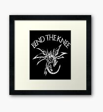 Bend the Knee - Dragon Fantasy T-shirt Framed Print