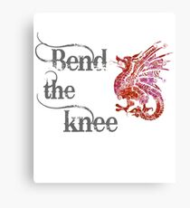 Bend the knee - Dragon Mother Fantasy Canvas Print
