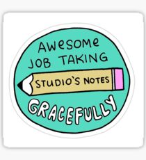 """""""Took Notes Greatfully"""" Little Achievements Sticker"""