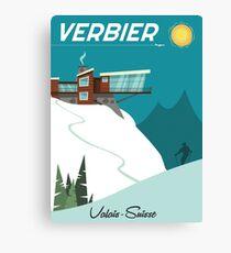Verbier Ski poster Canvas Print