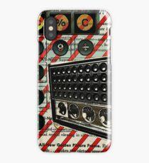 geeky nerdy retro calculator vintage shortwave radio  iPhone Case/Skin