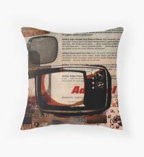 cool geeky tech Retro Vintage TV television Nostalgia Throw Pillow