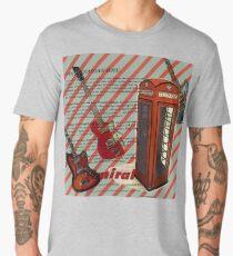 modern british rock music london telephone retro guitar  Men's Premium T-Shirt