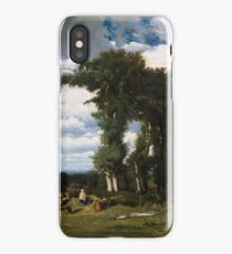 Landscape with Cattle at Limousin , Jules Dupré iPhone Case/Skin