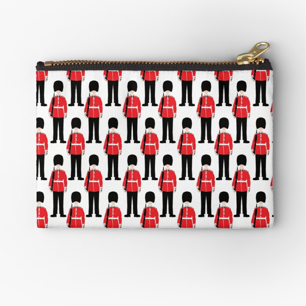 British Beefeater Soldiers // London England Zipper Pouch