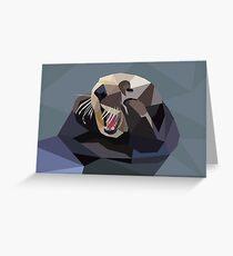 Geo Sea Otter Greeting Card