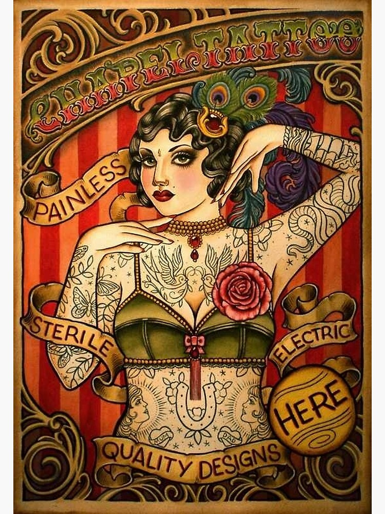 CHAPEL TATTOO; Vintage Body Advertising Art by posterbobs