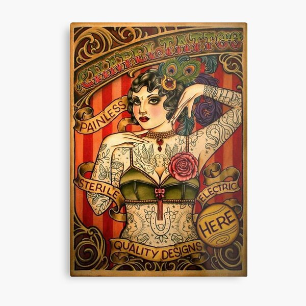 CHAPEL TATTOO; Vintage Body Advertising Art Metal Print