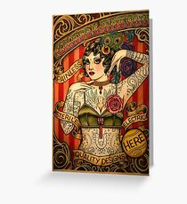 KAPELLE TATTOO; Vintage Body Werbung Kunst Grußkarte