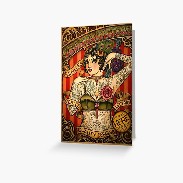 CHAPEL TATTOO; Vintage Body Advertising Art Greeting Card
