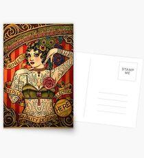 KAPELLE TATTOO; Vintage Body Werbung Kunst Postkarten