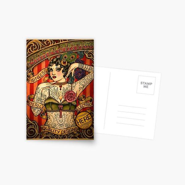 CHAPEL TATTOO; Vintage Body Advertising Art Postcard
