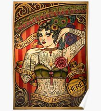 CHAPEL TATTOO; Vintage Body Advertising Art Poster