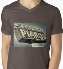 B.T.Faith Pianos Men's V-Neck T-Shirt