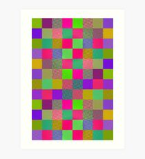 Wobbly Blocks Art Print