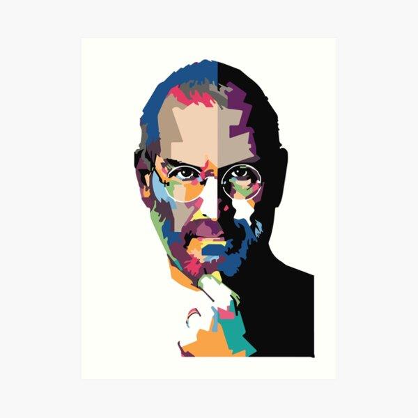 Steve Jobs portrait   Steve Jobs painting  Art Print