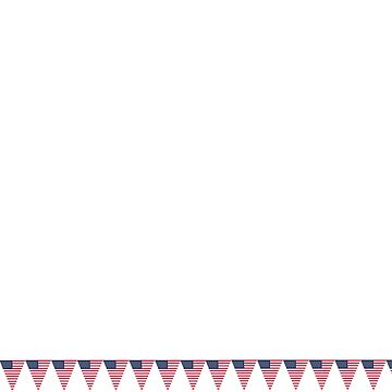 Stars and Stripes USA Bunting Design by Tee-Art