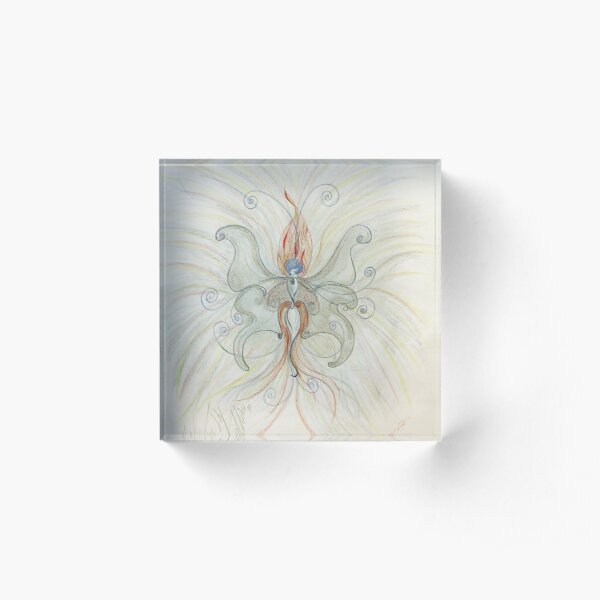 Butterfly Flame Acrylic Block
