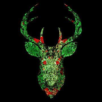 Floral Deer by ddtk
