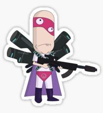 Noob Noob Rick and Morty Sticker