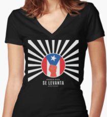 Puerto Rico Se Levanta Women's Fitted V-Neck T-Shirt