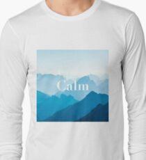 Zen Calm Blue Mountains Design Poster T-Shirt