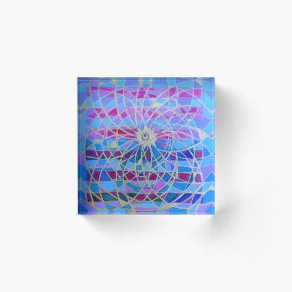 Hexagram 9-Hsiao Ch'u (Power of the Small) Acrylic Block