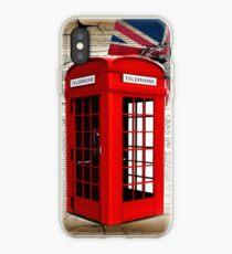 rustikale Grunge Union Jack retro London Telefonzelle iPhone-Hülle & Cover